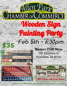 Wood Sign Painting Party @ Modern  Craft Wine