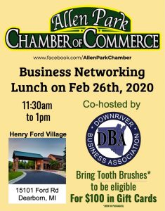 Business Networking Lunch @ Henry Ford Village